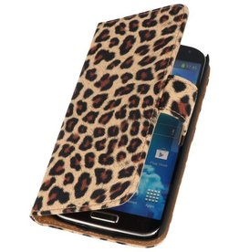 Luipaard Bookstyle Hoes voor Galaxy S4 Active i9295 Chita