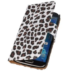 Luipaard Bookstyle Hoes voor Galaxy S4 Active i9295 Bruin