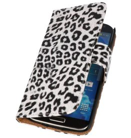 Luipaard Bookstyle Hoes voor Galaxy S4 Active i9295 Wit