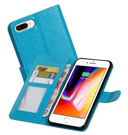 iPhone 7 / 8 Plus Portemonnee hoesje booktype wallet Turquoise