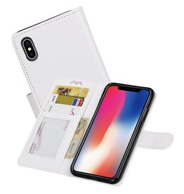 iPhone X Portemonnee hoesje booktype wallet case Wit