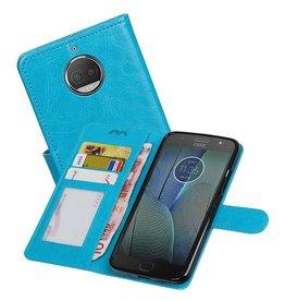 Moto G5s Plus Portemonnee hoesje booktype wallet Turquoise