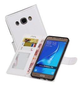 Galaxy J7 2016 Portemonnee hoesje booktype wallet case Wit