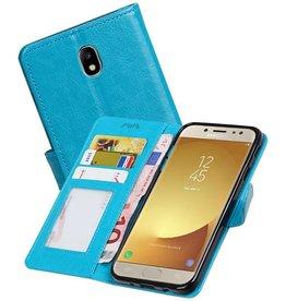 Galaxy J7 2017 Portemonnee hoesje booktype wallet Turquoise