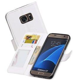 Galaxy S7 Portemonnee hoesje booktype wallet case Wit