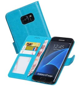 Galaxy S7 Edge Portemonnee hoesje booktype wallet Turquoise