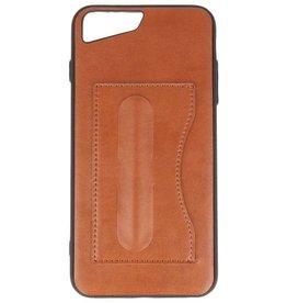 Standing TPU Wallet Case voor iPhone 8 Plus / 7Plus Bruin