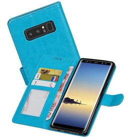 Galaxy Note 8 Portemonnee hoesje booktype wallet case Turquoise
