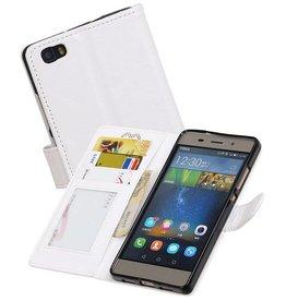 Huawei P9 Lite Portemonnee hoesje booktype wallet case Wit