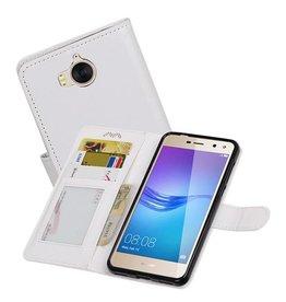 Huawei Y5 / Y6 2017 Portemonnee booktype wallet case Wit
