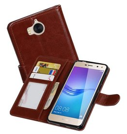 Huawei Y5 / Y6 2017 Portemonnee booktype wallet case Bruin