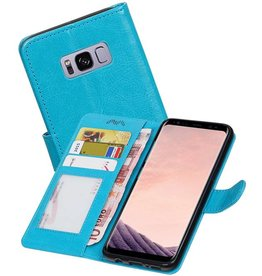 Galaxy S8 Plus Portemonnee hoes booktype wallet Turquoise
