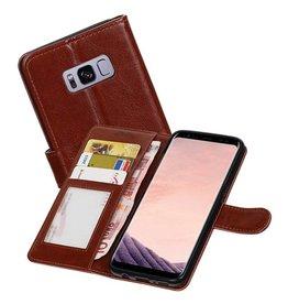 Galaxy S8 Plus Portemonnee hoesje booktype wallet case Bruin
