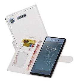 Xperia XZ1 Portemonnee hoesje booktype Wallet case Wit