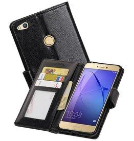 Huawei P8 Lite 2017 Portemonnee hoesje booktype Zwart