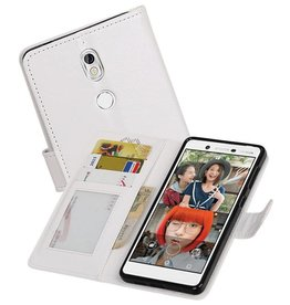 Nokia 7 Portemonnee hoesje booktype wallet case Wit