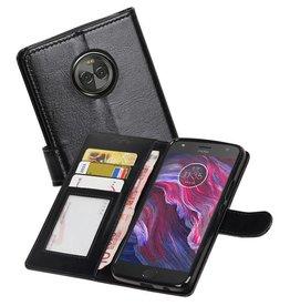 Moto X4 Portemonnee hoesje booktype wallet case Zwart