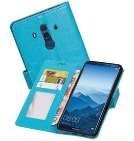 Huawei Mate 10 Pro Portemonnee hoesje booktype Turquoise