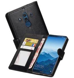 Huawei Mate 10 Pro Portemonnee hoesje booktype wallet Zwart