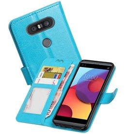 LG Q8 Portemonnee hoesje booktype wallet case Turquoise