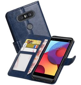 LG Q8 Portemonnee hoesje booktype wallet case Donker Blauw