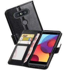 LG Q8 Portemonnee hoesje booktype wallet case Zwart