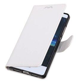 Huawei P9 Lite mini Portemonnee hoesje wallet case Wit