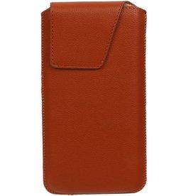 Smartphone Pouch voor iPhone 6 / 6S Bruin