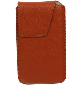 Smartphone Pouch Maat S ( Galaxy S2 i9100 )  Bruin