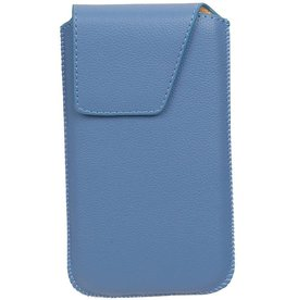 Smartphone Pouch Maat M ( Galaxy S4 i9500 )  Blauw