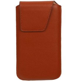 Smartphone Pouch Maat M ( Galaxy S4 i9500 )  Bruin