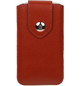 Luxe Smartphone Pouch Maat S ( Galaxy S2 i9100 )  Bruin
