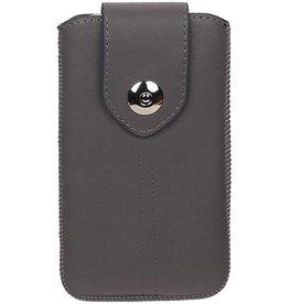 Luxe Smartphone Pouch Maat M ( Galaxy S4 i9500 )  Grijs