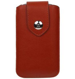 Luxe Smartphone Pouch Maat M ( Galaxy S4 i9500 )  Bruin