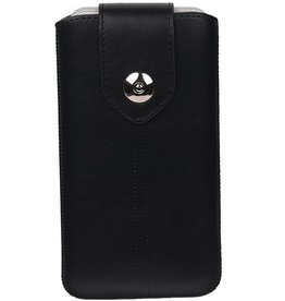 Luxe Smartphone Pouch Maat M ( Galaxy S4 i9500 )  Zwart