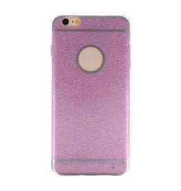 Bling TPU Hoesje Case voor iPhone 6 / 6s Plus Hotpink