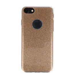 Bling TPU Hoesje Case voor iPhone 7 / 8 Goud