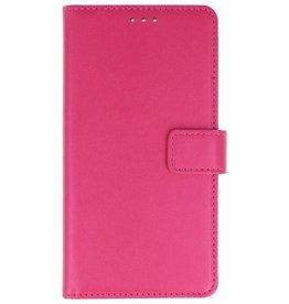 Nokia 2 Hoesje Kaarthouder Book Case Telefoonhoesje Roze