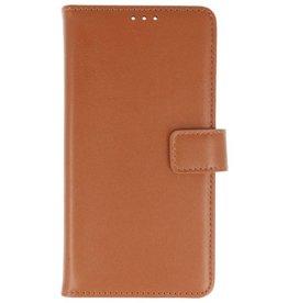 Lederlook Bookstyle Wallet Cases Hoes voor Xperia XA2 Ultra Bruin