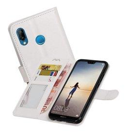 Huawei P20 Lite Portemonnee hoesje booktype wallet Wit