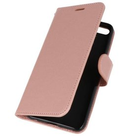Wallet Cases Hoesje voor Huawei Honor 7X Roze