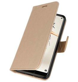 Wallet Cases Hoesje voor Huawei P20 Goud