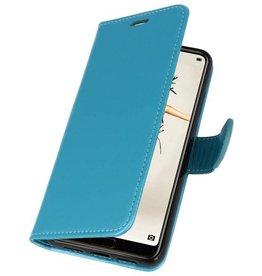 Wallet Cases Hoesje voor Huawei P20 Turquoise