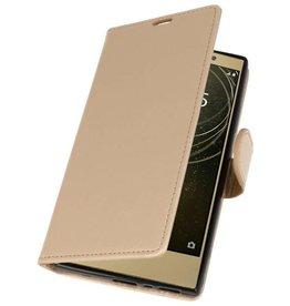 Wallet Cases Hoesje voor Xperia L2 Goud
