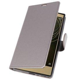 Wallet Cases Hoesje voor Xperia L2 Grijs