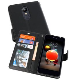 Wallet Cases Hoesje voor LG K8 2018 Zwart