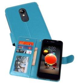 Wallet Cases Hoesje voor LG K8 2018 Turquoise