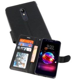 Wallet Cases Hoesje voor LG K10 2018 Zwart