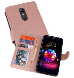 Wallet Cases Hoesje voor LG K10 2018 Roze