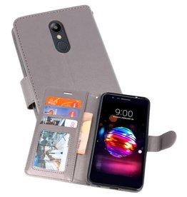 Wallet Cases Hoesje voor LG K10 2018 Grijs